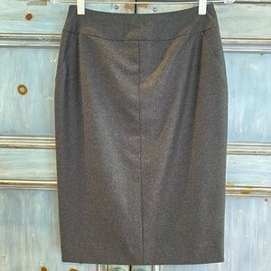 Authentic Chanel gray wool pencil skirt size 38